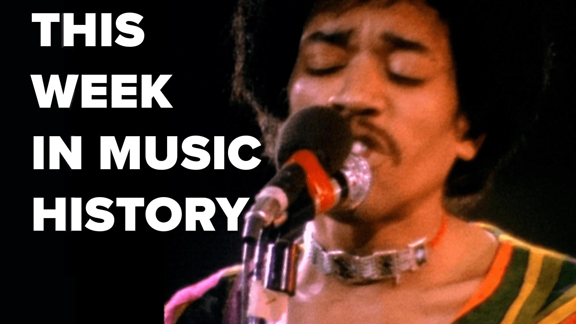 Hendrix Records Purple Haze | This Week in Music History