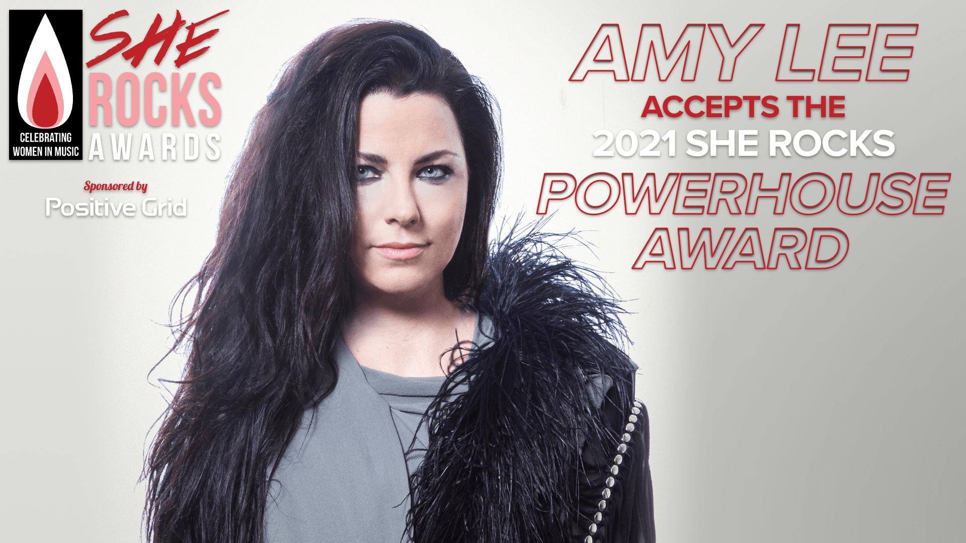 Amy Lee Accepts the Powerhouse Award | She Rocks Awards