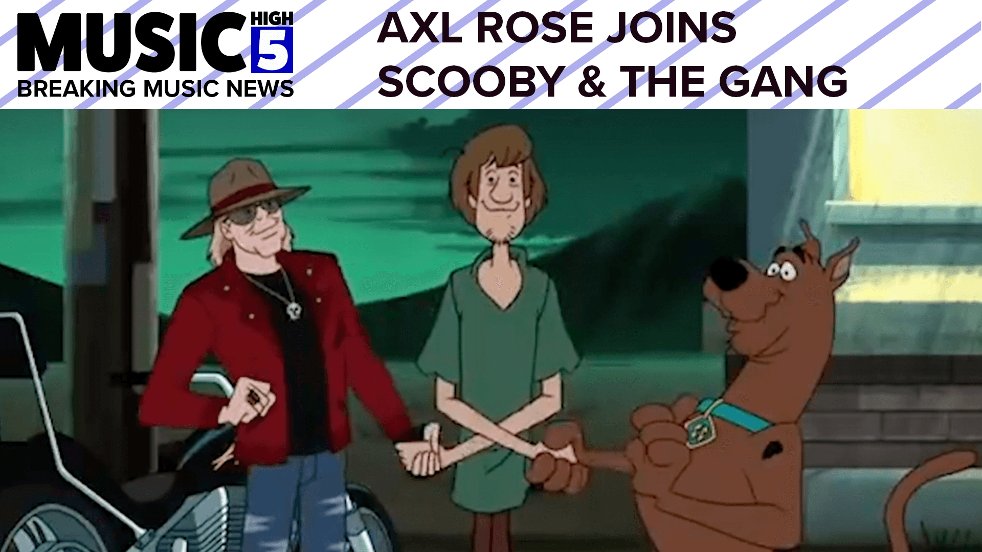 Axl Rose Gets Animated   Music High 5